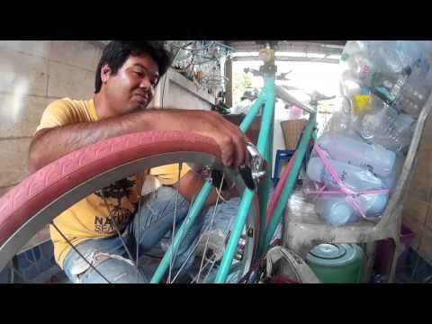 DIY ใส่เกียร์ - เบรค ให้ จักรยานฟิกเกียร์ ทำเองง่ายๆ