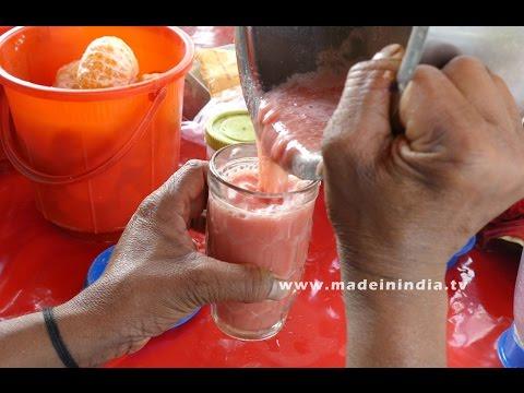 WATERMELON JUICE MAKING | HEALTHY STREET FOODS IN INDIA