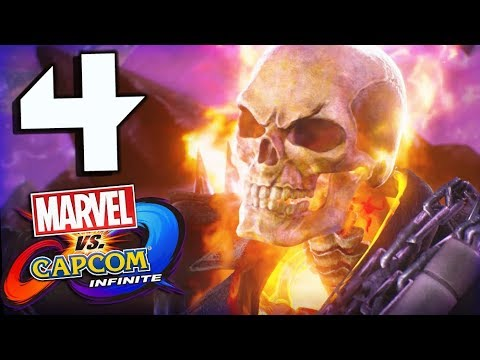 Marvel Vs Capcom Infinite Story Part 4 Ghost Rider Battles Morrigan