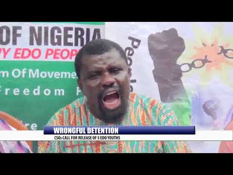 WRONGFUL DETENTION: CSOs CALL FOR RELEASE OF 5 EDO YOUTHS