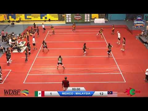 Day 2:  MEXICO Vs MALAYSIA Dodgeball World Championship Cancun 2019