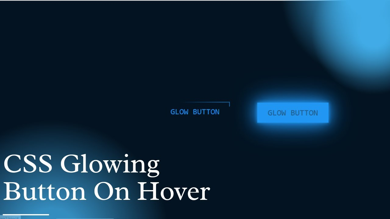 CSS Glowing Button On Hover   CSS Neon Button On Hover