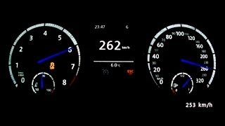 VW Golf VII R 2014 - acceleration 0-250 km/h, top speed test and more