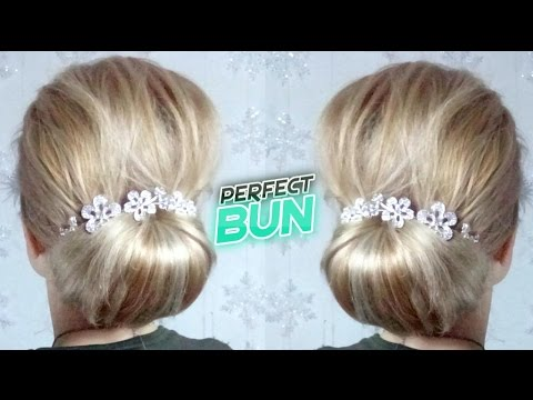 EASY HAIRSTYLE PERFECT LOW BUN UPDO