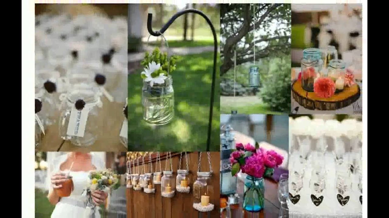 Wedding Table Decorations Mason Jars - YouTube