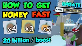 HOW TO GET HONEY FAST IN NEW UPDATE | 20bil / boost | Tips and Tricks - 🐝Roblox Bee Swarm Simulator