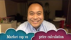 Cryptocurrency's market cap calculation vs it's price