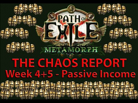 The Chaos Report - Week 4+5: Passive Income | Path of Exile: Metamorph Economy Guide