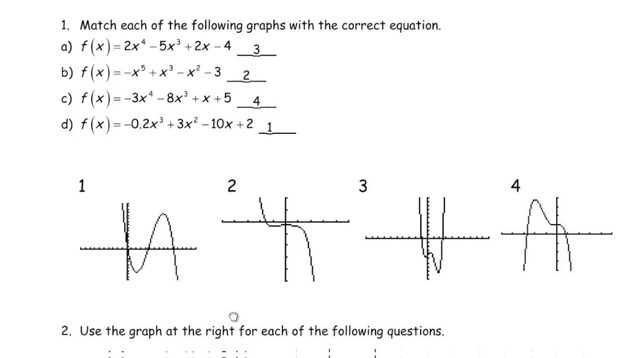 MHF4U Unit 1 Review MHR Polynomial Functions Solutions