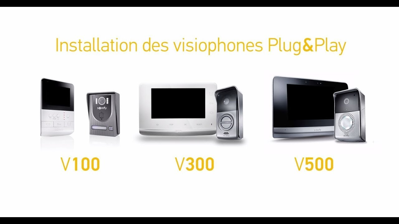 comment installer un visiophone plug play somfy youtube. Black Bedroom Furniture Sets. Home Design Ideas