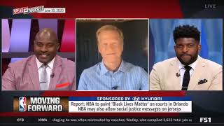 Marcellus Wiley sports anchor explains why painting Black Lives Matter on court isn't a good idea