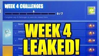 FORTNITE SEASON 7 WEEK 4 CHALLENGES LEAKED! WEEK 4 ALL CHALLENGES EASY GUIDE SEASON 7 CHALLENGES!