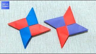 Easy Origami Ninja Star Tutorial 簡單飛鏢摺紙教學 如何用紙摺疊一個好玩的飛鏢 摺紙玩具 兒童創意手工DIY