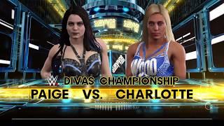 Wwe 2k17 Charlotte Vs Paige