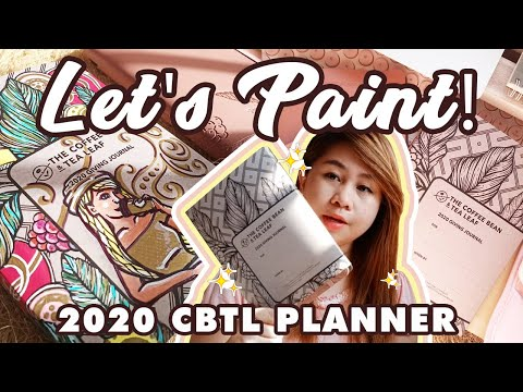 Making Art On My CBTL Planner's Kraft Cover | Coffee Bean And Tea Leaf 2020 Planner