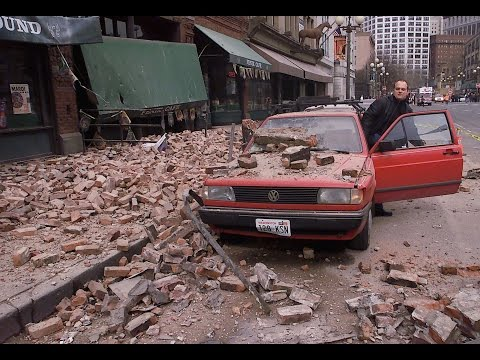 Disaster Zone - Seattle's  Old Buildings in an Earthquake