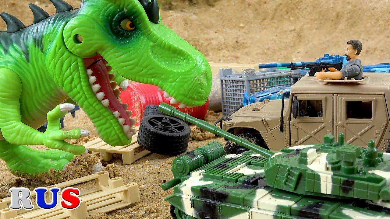 Танки с Динозавр появляется! Мультики про танки