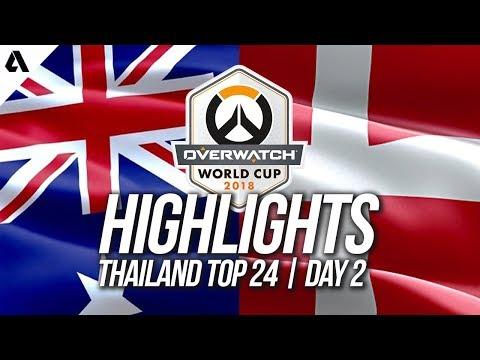 Australia vs Denmark | Overwatch World Cup 2018 Thailand Qualifier Day 2