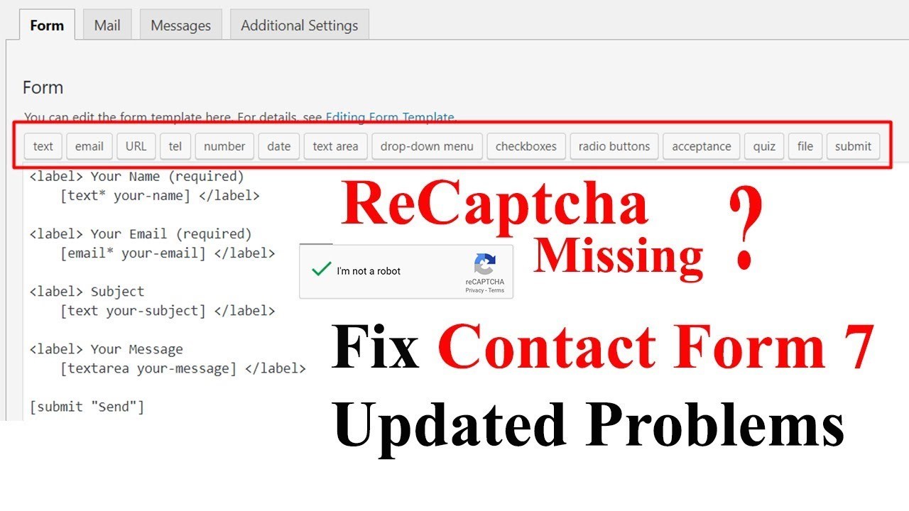 How to Fix Contact Form 7 ReCaptcha Checkbox | Update Problem
