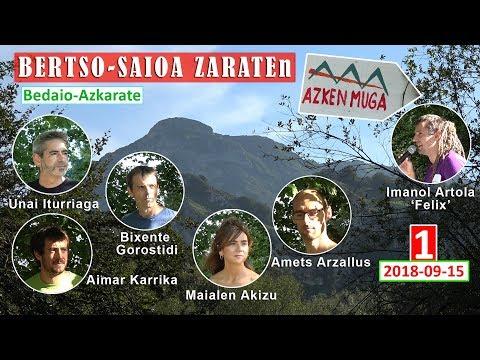 'Azken Muga' bertso-saioa (1) (Zarate, 2018-09-15) (45'09'')