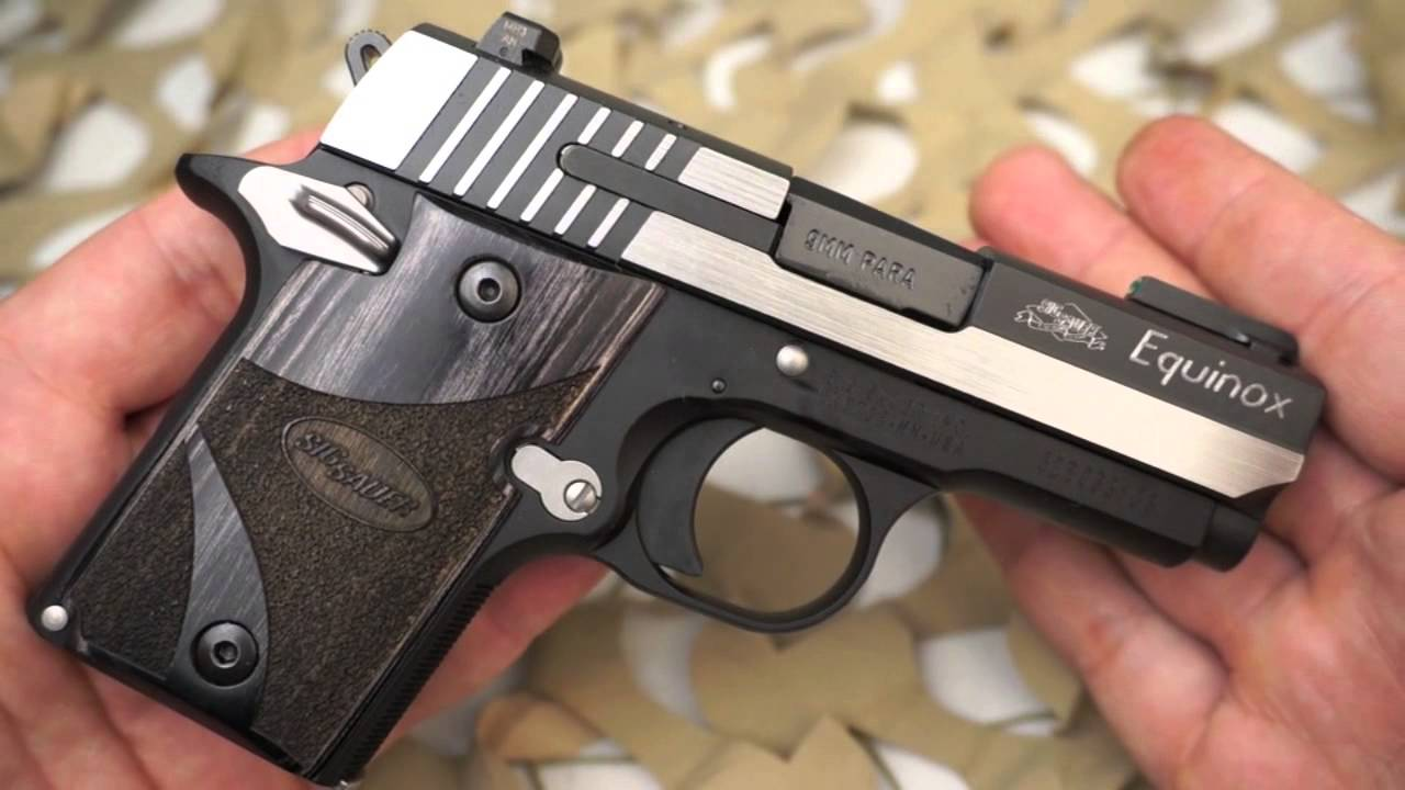 sig sauer p938 9mm compact equinox pocket pistol overview