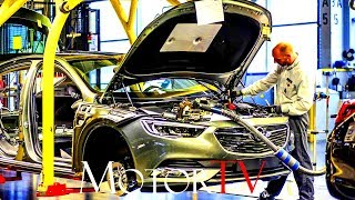 CAR FACTORY : OPEL FACTORY AT RUSSELESHEIM l PAINTSHOP & ENGINE ASSEMBLY (NO MUSIC)