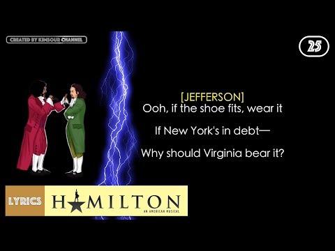 #25 Hamilton - Cabinet Battle #1 (VIDEO LYRICS)