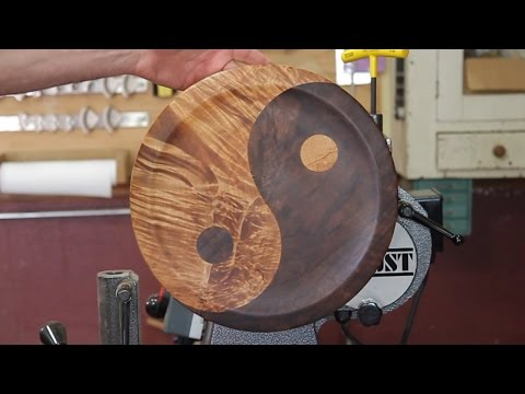 How To Make A Segmented Yin Yang Platter DIY Woodturning Projects