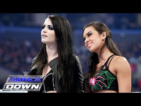 AJ Lee & Paige unite in a war of words with The Bella Twins: SmackDown, March 26, 2015