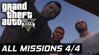 GTA V - All Missions 100% Gold Medal [4/4] (HD 60FPS)