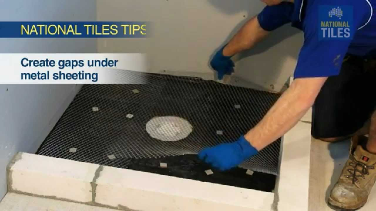 How to Screed the Shower Base National Tiles DIY Tiling 14 YouTube