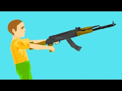 4 YEAR OLD KID WITH A GUN! (Happy Wheels #88)
