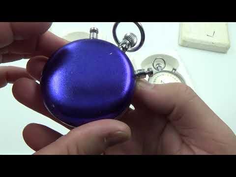 Slava Vintage USSR Russian Soviet Split Stopwatch Chronometer 20 Jewels 0317325 0254238