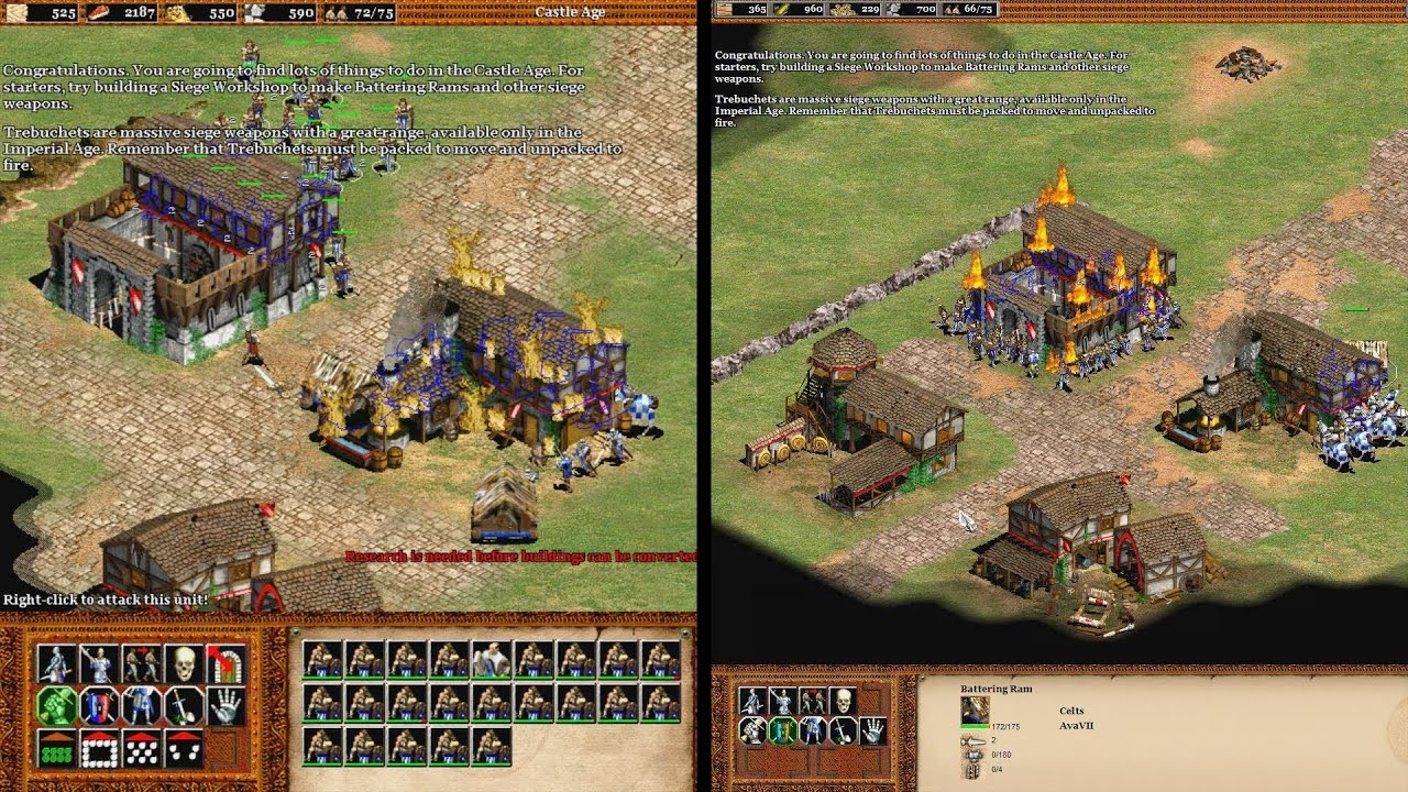 Age of Empires 2 HD Edition - Grafikvergleich mit dem Original