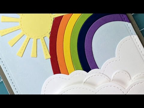 Intro to Puffy Cloud Borders and Rainbow + a card from start to finish