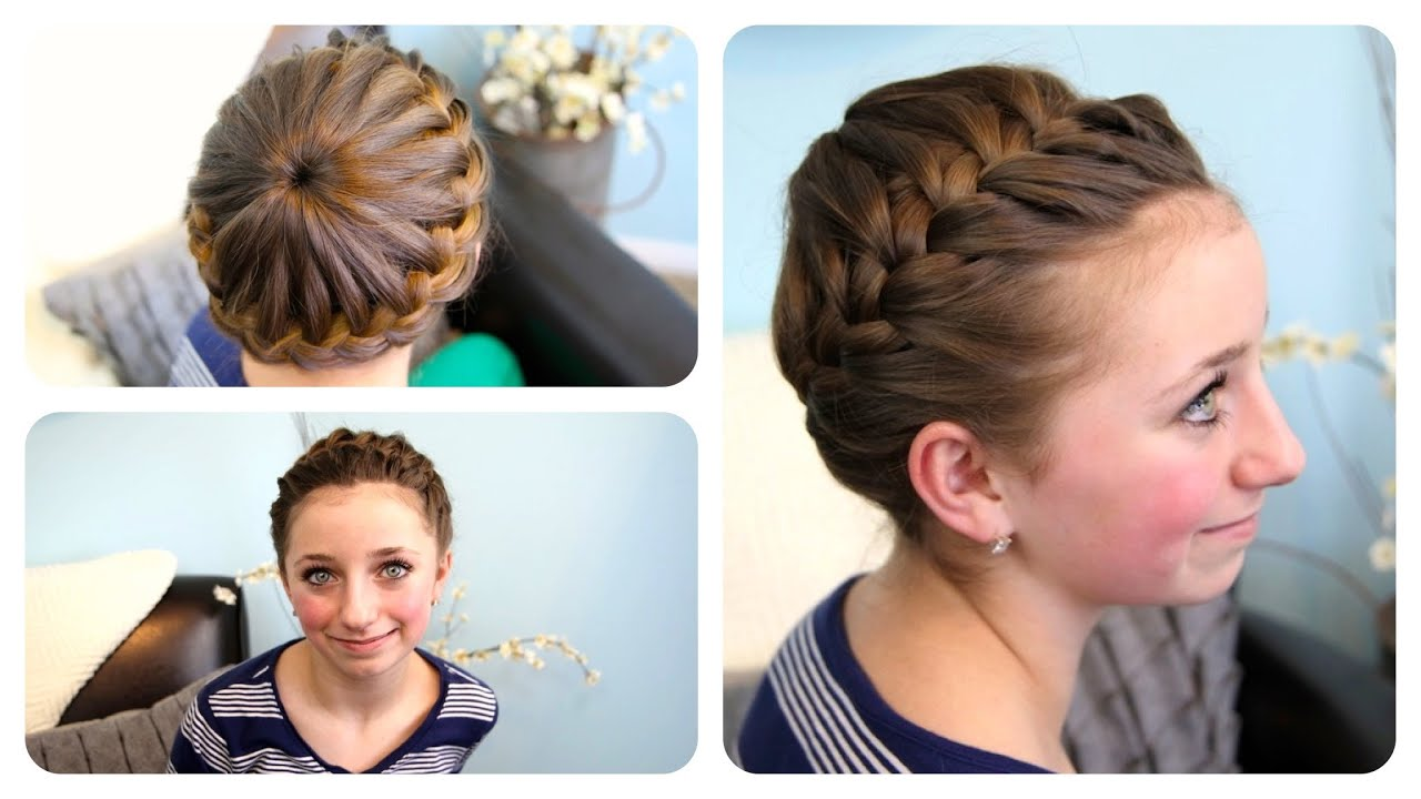 Starburst Crown Braid Updo Hairstyles Cute Girls Hairstyles