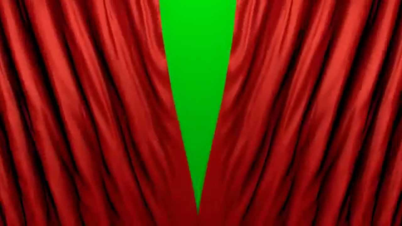 curtains opening closing green screen full hd free template intro chroma key curtain fabric