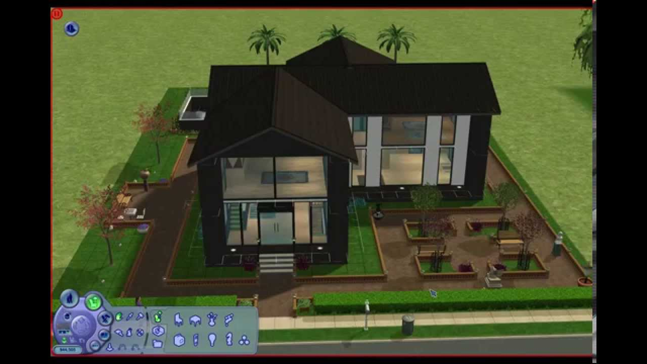 Sims 2 small modern house youtube for Minimalist house sims 2
