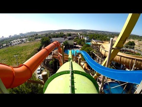 Western Park Magaluf - The Beast (Green Speed Slide) Onride POV