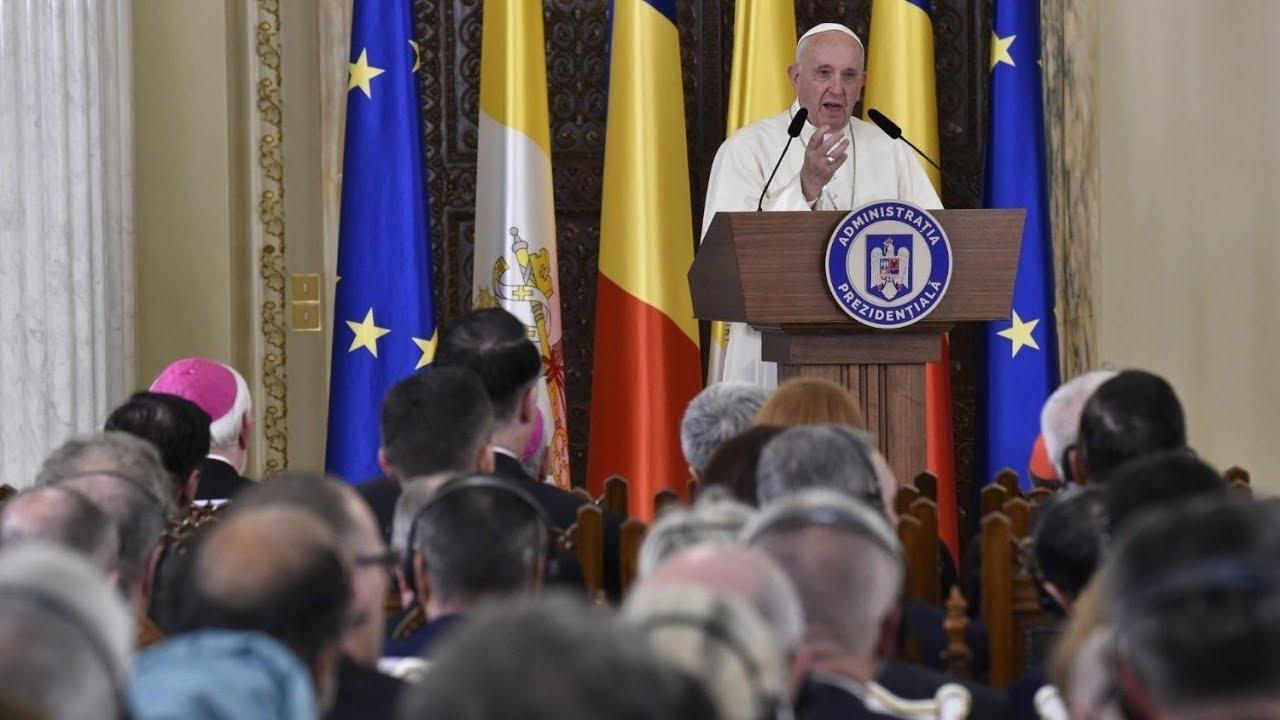 Diễn từ của Đức Phanxicô trước các nhà cầm quyền và ngoại giao đoàn tại Bucharest, Rumani