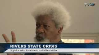 SOYINKA BLASTS NIGERIA'S FIRST LADY OVER RIVERS STATE CRISIS