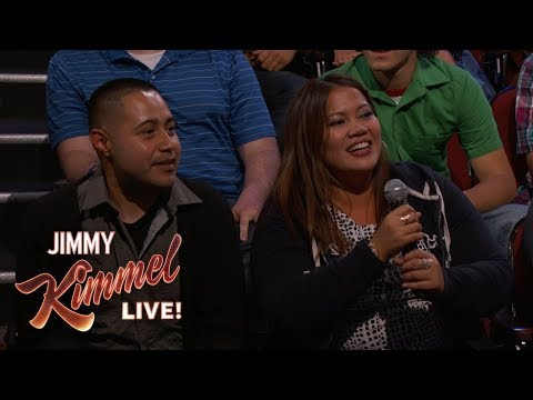 Behind the Scenes with Jimmy Kimmel & Audience (Superfan/Online Dater)