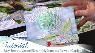 HARTFELT CREATIONS HCFB1-489 Forme HYDRANGEA Cottage Garden 3D