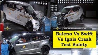 Baleno VS Swift Vs Ignis Battle for Crash Test Rating Video