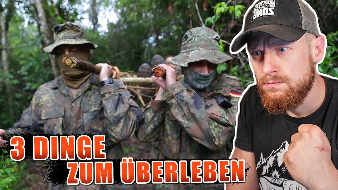 3 DINGE um im DSCHUNGEL zu überleben | KSK Ausbildung Bundeswehr | Fritz Meinecke