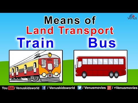 Means of Land Transport (Part- 1) ~ World Of Transport - YouTube