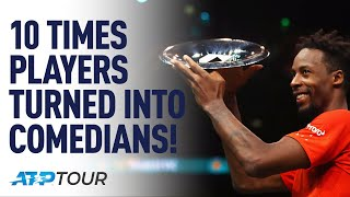 10 Times Tennis Players Made Us Laugh | TOP 10 | ATP YouTube Videos