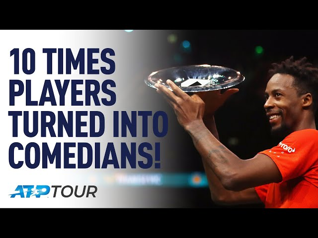 10 Times Tennis Players Made Us Laugh | TOP 10 | ATP