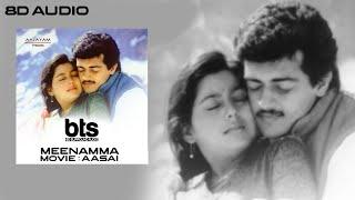 Meenamma Adikalayilum   Aasai Tamil Movie 8D Songs   Ajith   Suvalakshmi   Unni Krishnan