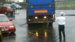 Bad Lorry driving in the rain